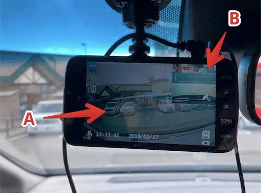 フロントカメラにリアカメラの映像も映る